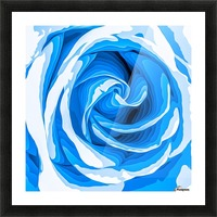closeup blue rose texture abstract background Picture Frame print