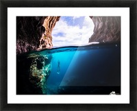 Cave diving Picture Frame print