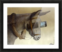 blinkers Picture Frame print