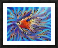 Poloniussa - red angelfish Picture Frame print