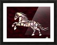 Cavallerone - white horse Picture Frame print