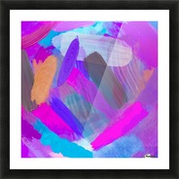 pink brown purple blue painting abstract background Picture Frame print