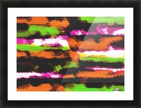 orange black pink green grunge painting texture abstract background Picture Frame print