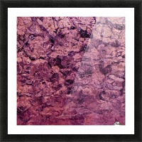 psychedelic grunge painting abstract texture in pink Picture Frame print