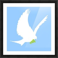 Dove And Olive Branch Picture Frame print