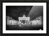 BERLIN Brandenburg Gate   Monochrome Picture Frame print