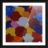 Colorful roses Picture Frame print