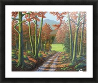 Maple Forest Road Picture Frame print