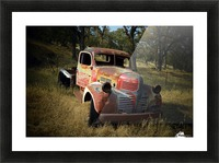 Abandoned Dodge Truck Picture Frame print