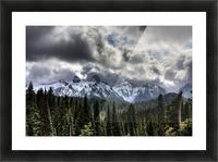 Storm Clouds, Mount Rainier, Pierce County, Washington Picture Frame print