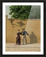 A sailor taking leave of his girlfriend 1840 Picture Frame print