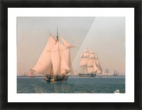 Ships under sail in mild breeze on clear summer afternoon Picture Frame print