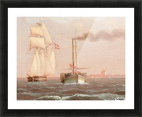 Danish paddle steamer Picture Frame print