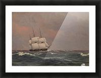 The corvette Najaden in rough seas Picture Frame print
