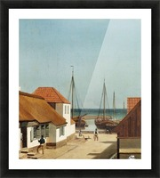 Boats leaving the port Picture Frame print