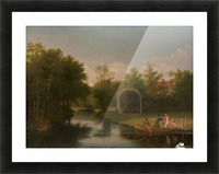 Arbour in the park of Sanderumgard manor Picture Frame print