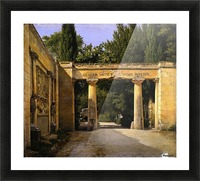 View of the Garden of the Villa Borghese in Rome Picture Frame print