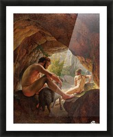 Odysseus flygter fra Polyfem Picture Frame print
