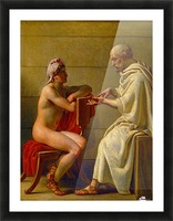 Socrates and Alcibiades Picture Frame print