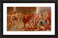 Ulysses revenge on Penelopes suitors Picture Frame print