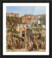 View of the interior of the Colosseum Picture Frame print