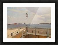 View from the Trekroner Battery with Copenhagen in the distance Picture Frame print
