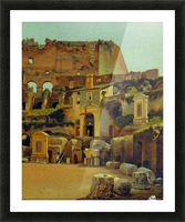Interior of the Colosseum in Rome Picture Frame print