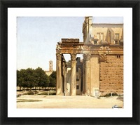 View of the Via Sacra, Rome, 1814 Picture Frame print