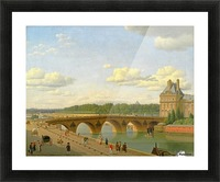 View at Pont Royal from Voltaire Quai in Paris Picture Frame print