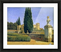 In the Gardens of the Villa Albani Picture Frame print