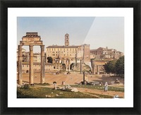 View of the Forum in Rome Picture Frame print
