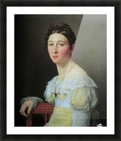 Portrait of Emilie Henriette Massmann Picture Frame print