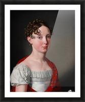 Portrait of Ida Mariane Brockenhuus Picture Frame print