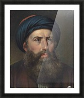 Portrait of a Greek man Picture Frame print