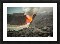 Lava Entering the Ocean Picture Frame print