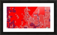 graffiti drawing and painting abstract in red and blue Picture Frame print
