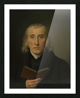 Portrait of Gedalia Moses Picture Frame print