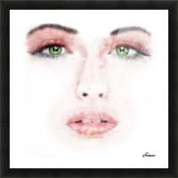 Kessania - white face Picture Frame print