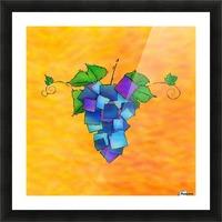 Jamurissa - square grapes Picture Frame print
