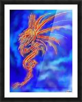 Essemios - furious dragon Picture Frame print