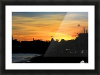 St Kitts Basseterre sunset Picture Frame print