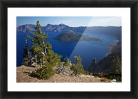 Crater Lake Scenic Aug, 2015 Picture Frame print