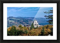 Crown Point overlooking Columbia River Gorge with fall colors Picture Frame print