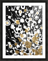 Fluff 2 Of 2, Abstract Flora - 2 Panel Series (Oil Painting). Picture Frame print