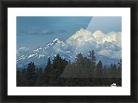 Mt Hood & Clouds Picture Frame print