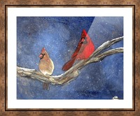 Cardinals Picture Frame print