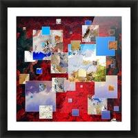 Espanissia - square flowers Picture Frame print
