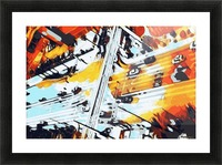road in the city geometric abstract background Picture Frame print