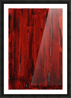 Rain, Abstract Painting In Red And Black (Acrylic Painting). Picture Frame print
