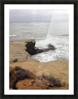 coastal wave Picture Frame print